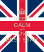 KEEP CALM AND LOVE BEST STAR - Personalised Poster A1 size