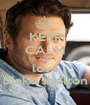 KEEP CALM AND love blake shelton - Personalised Poster A1 size