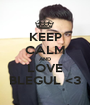 KEEP CALM AND LOVE BLEGUL <3 - Personalised Poster A1 size