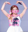 KEEP CALM AND LOVE BOMI - Personalised Poster A1 size