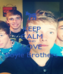 KEEP CALM AND LOVE Boyle Brothers - Personalised Poster A1 size