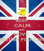 KEEP CALM AND  LOVE  BRITISH PIKACHU - Personalised Poster A1 size