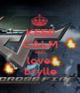 KEEP CALM AND love  brylle - Personalised Poster A1 size