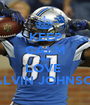 KEEP CALM AND LOVE  CALVIN JOHNSON  - Personalised Poster A1 size