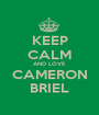 KEEP CALM AND LOVE CAMERON BRIEL - Personalised Poster A1 size