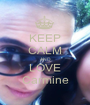 KEEP CALM AND LOVE Carmine - Personalised Poster A1 size