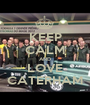 KEEP CALM AND LOVE CATERHAM - Personalised Poster A1 size