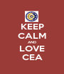 KEEP CALM AND LOVE CEA - Personalised Poster A1 size