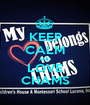 KEEP CALM AND LOVE CHAMS - Personalised Poster A1 size
