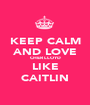 KEEP CALM AND LOVE CHER LLOYD LIKE CAITLIN - Personalised Poster A1 size