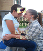 KEEP CALM AND LOVE CIRA - Personalised Poster A1 size