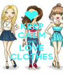 KEEP CALM AND LOVE CLOTHES - Personalised Poster A1 size