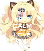 KEEP CALM AND LOVE COMIC - Personalised Poster A1 size