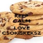 KEEP CALM AND LOVE CSOKISKEKSZ - Personalised Poster A1 size