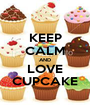 KEEP CALM AND LOVE CUPCAKE - Personalised Poster A1 size