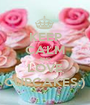 KEEP CALM AND LOVE CUPCAKES:) - Personalised Poster A1 size