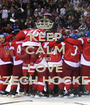 KEEP CALM AND LOVE CZECH HOCKEY - Personalised Poster A1 size