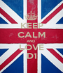 KEEP CALM AND  LOVE D1 - Personalised Poster A1 size