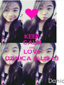 KEEP CALM AND LOVE DANICA ELLIS <3 - Personalised Poster A1 size