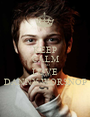 KEEP CALM AND LOVE DANNY WORSNOP - Personalised Poster A1 size