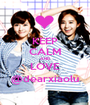 KEEP CALM AND LOVE @dearxiaolu - Personalised Poster A1 size