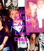 KEEP CALM AND Love Diall  - Personalised Poster A1 size
