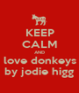 KEEP CALM AND love donkeys by jodie higg - Personalised Poster A1 size