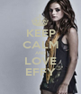 KEEP CALM AND LOVE EFFY - Personalised Poster A1 size