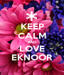 KEEP CALM AND LOVE EKNOOR - Personalised Poster A1 size