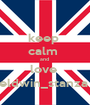 keep  calm  and  love  eldwin_stanza  - Personalised Poster A1 size