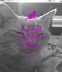 KEEP CALM AND love Elijha c: - Personalised Poster A1 size
