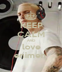 KEEP CALM AND love enimen  - Personalised Poster A1 size