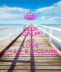 KEEP CALM AND LOVE ENZO & OCEANE - Personalised Poster A1 size