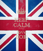 KEEP CALM AND love EOR - Personalised Poster A1 size
