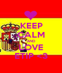 KEEP CALM AND LOVE ETIP <3 - Personalised Poster A1 size