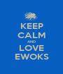 KEEP CALM AND LOVE EWOKS - Personalised Poster A1 size