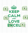 KEEP CALM AND LOVE EXCEL - Personalised Poster A1 size