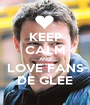 KEEP CALM AND LOVE FANS DE GLEE - Personalised Poster A1 size