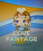 KEEP CALM AND LOVE FANTAGE - Personalised Poster A1 size