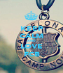 KEEP CALM AND LOVE FCB - Personalised Poster A1 size