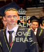 KEEP CALM AND LOVE FERAS - Personalised Poster A1 size