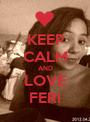 KEEP CALM AND LOVE FERI - Personalised Poster A1 size