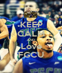 KEEP CALM AND Love FGCU - Personalised Poster A1 size