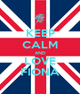 KEEP CALM AND LOVE FIONA - Personalised Poster A1 size
