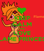 KEEP CALM AND LOVE FLAME PRINCESS - Personalised Poster A1 size