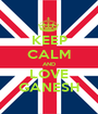 KEEP CALM AND LOVE GANESH - Personalised Poster A1 size
