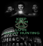 KEEP CALM AND LOVE  GHOST HUNTING - Personalised Poster A1 size