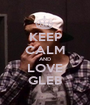 KEEP CALM AND LOVE GLEB - Personalised Poster A1 size