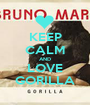 KEEP CALM AND LOVE GORILLA - Personalised Poster A1 size