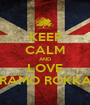 KEEP CALM AND LOVE GRAMO ROKKAZ - Personalised Poster A1 size